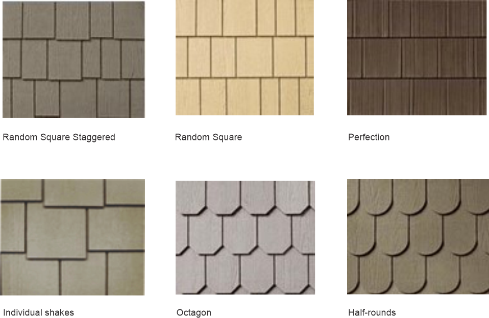 Most common types of shingles